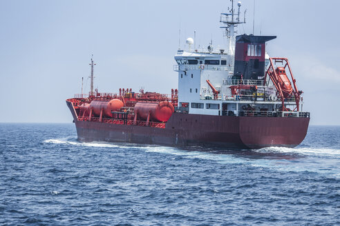 Spain, Andalusia, Tarifa, Strait of Gibraltar, Chemical tanker - KB000082