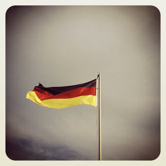 German flag blowing in the wind - GWF003004
