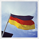 German flag blowing in the wind - GWF003006