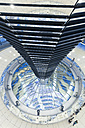 Germany, Berlin, inside view of glass dome of Reichstag - MEM000377