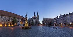 Germany, Lower Saxony, Braunschweig, Old town market square in the evening - PVCF000052