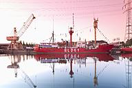 Germany, Hamburg, Hamburg-Harburg, Channel Hamburg, Harburg habour, Lightship Elbe 1 - MS004081