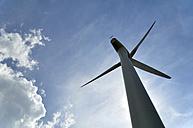 Germany, Saxony-Anhalt, Wind turbine - LYF000219