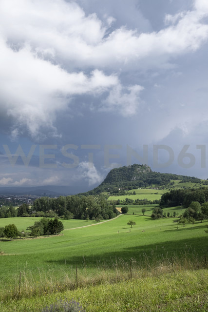 Germany, Baden-Wuerttemberg, Constance district, Hegau, Hohentwiel after summer storm - ELF001240