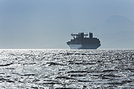 Spain, Andalusia, Tarifa, Strait of Gibraltar, Cargo ship - KB000087