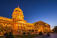 Hungary, Budapest, Buda, Buda Castle, Blue hour - PUF000004