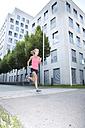 Germany, Munich, Female jogger - MAEF008898
