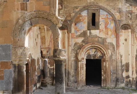 Turkey, Anatolia, Kars, former Armenian capital Ani, Western portal of Tigran Honents' Gregory's church - SIE005709