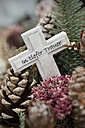 Germany, Bavaria, Ruhpolding, Grave yard, Grave cross, In deep mourning - CRF002615