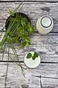 Herbal lassi with bio yogurt and different herbs - LVF001760