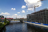 Germany, Berlin, construction site of buildings at Spree River near central station - BIG000029