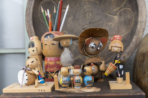 Japan, Nikko, wooden toy figures - HL000676