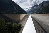 Austria, Tirol, Zillertal, Schlegeis dam wall - MKFF000061