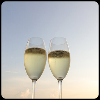Two glasses of champagne outdoors - SHIF000007