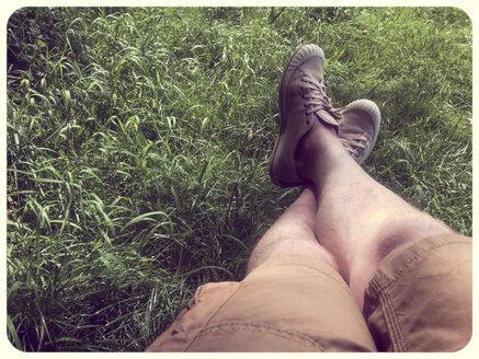 Man's feet in grass - SHIF000011