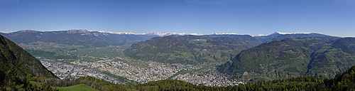 Italy, South Tyrol, View from Kohlern over Bolzano - LBF000898