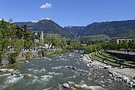 Italy, Alto Adige, South Tyrol, Burggrafenamt, Meran, Passeier valley, Promenade - LB000902