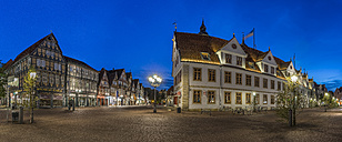 Germany, Lower Saxony, Celle, Old Townhall, Blue hour - PVCF000067