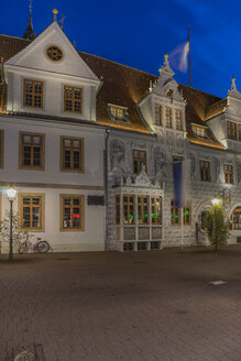 Germany, Lower Saxony, Celle, Old townhall, Blue hour - PVC000074