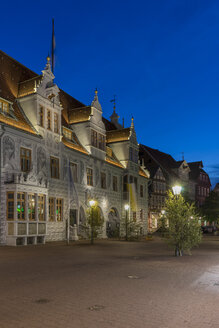 Germany, Lower Saxony, Celle, Old townhall, Blue hour - PVCF000075