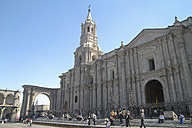 South America, Peru, Arequipa, Basilica Cathedral of Arequipa - KRP000640