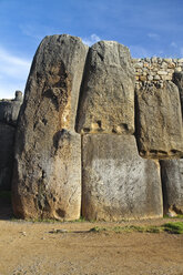 South Amercia, View of the ruins of Saksaywaman in Cusco - KRPF000698