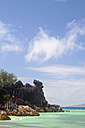 Seychelles, View of the beach at Curieuse Island - KRPF000720