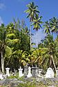 Seychelles, View of the cemetery L'Union Estate at La Digue Island - KRPF000755