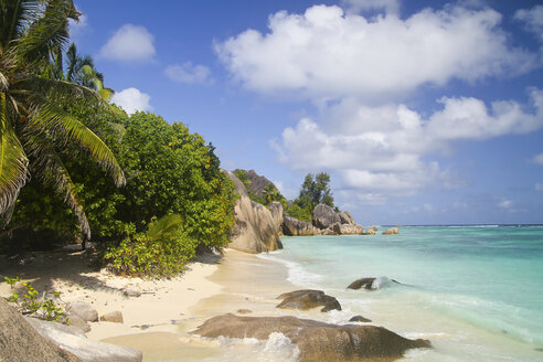 Seychelles, La Digue Island, Anse Source D'Argent, Beach - KRPF000757