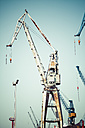 Germany, Hamburg, Port of Hamburg, Old harbour crane - KRPF000965