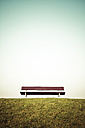 Germany, Bench on meadow - KRPF000972