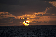 Dominican Republic, Caribbean Sea, Silverbanks, Sunset - ZCF000135