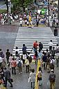 Japan, Tokyo, View of pedestrian crossing - HL000681