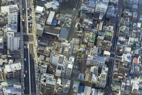 Japan, Tokyo, Cityscape, Residential houses and streets - HL000687
