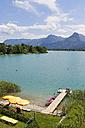 Austria, Salzkammergut, Salzburg State, Lake Wolfgangsee, Ried, Private bathing beach - SIEF005767