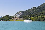 Austria, Salzkammergut, Salzburg State, Lake Wolfgangsee, Ried am Wolfgangsee, Passenger Ship Salzburg - SIE005768