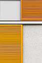 Austria, Upper Austria, Linz, Shutters on the facade of a residential house - EJWF000476
