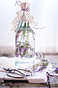 Lavender vinegar, lavender blossoms with white wine vinegar - SBDF001154