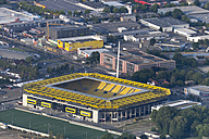 Germany, Aachen, aerial view of the city with stadium - HL000644