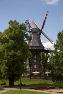 Germany, Bremen, Am Wall Windmill - OLEF000030