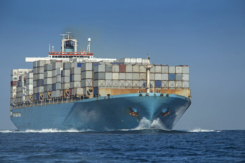 Spain, Andalusia, Tarifa, Container ship - KB000104