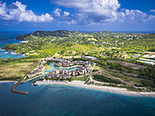 Caribbean, St. Lucia, Rodney Bay, Cap Estate, aerial photo of Hotel The Landings - AMF002659
