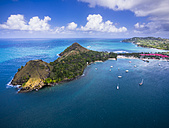 Caribbean, St. Lucia, Cap Estate, Pigeon Island National Park and Fort Rodney - AMF002649