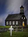 Iceland, Reykjanes, Hvalsneskirkja, Church and grave yard - MKF000078