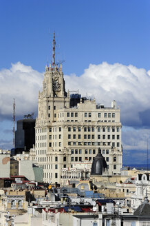 Spain, Madrid, historic city center, Edificio Telefonica building at Gran Via - MIZ000590