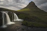 Iceland, Snaefellsnes, Kirkjufellfoss Waterfall - MKFF000082