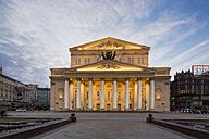 Russia, Central Russia, Moscow, Theatre Square, Bolshoi Theatre in the evening - FO006722