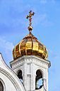 Russia, Moscow, onion spire of Cathedral of Christ the Saviour - FOF006729