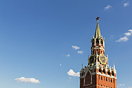 Russia, Moscow, detail of Spasskaya Tower - FOF006796