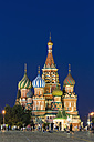 Russia, Central Russia, Moscow, Red Square, Saint Basil's Cathedral in the evening - FOF006816